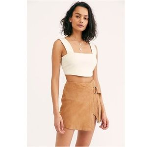 Free People Charley Suede Skirt, Small, NWT